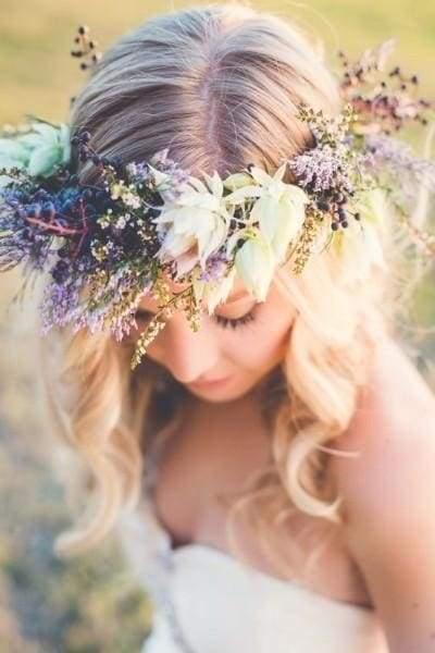 квіткова весільна корона