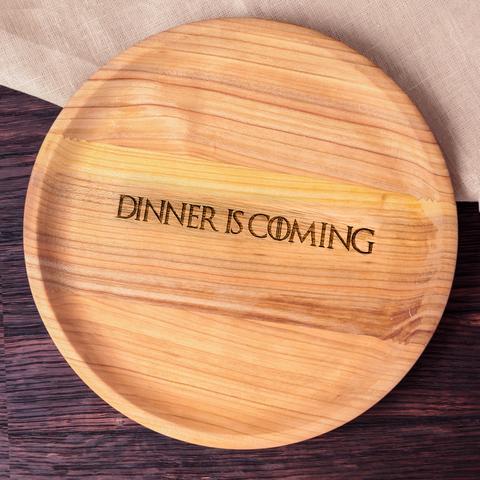 Wooden handmade plate