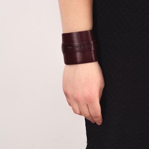 Leather handmade bracelet