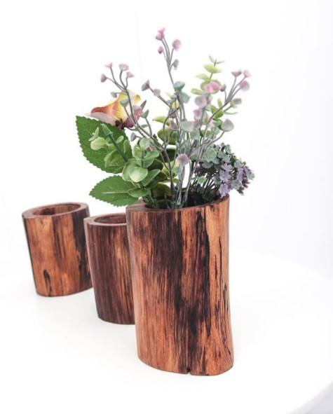 wooden pot for plants
