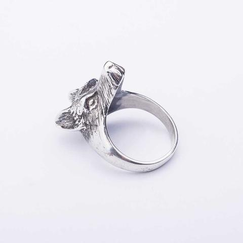 "Silver ring ""Wolf"""